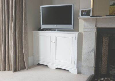 Bespoke television cabinet, with vents