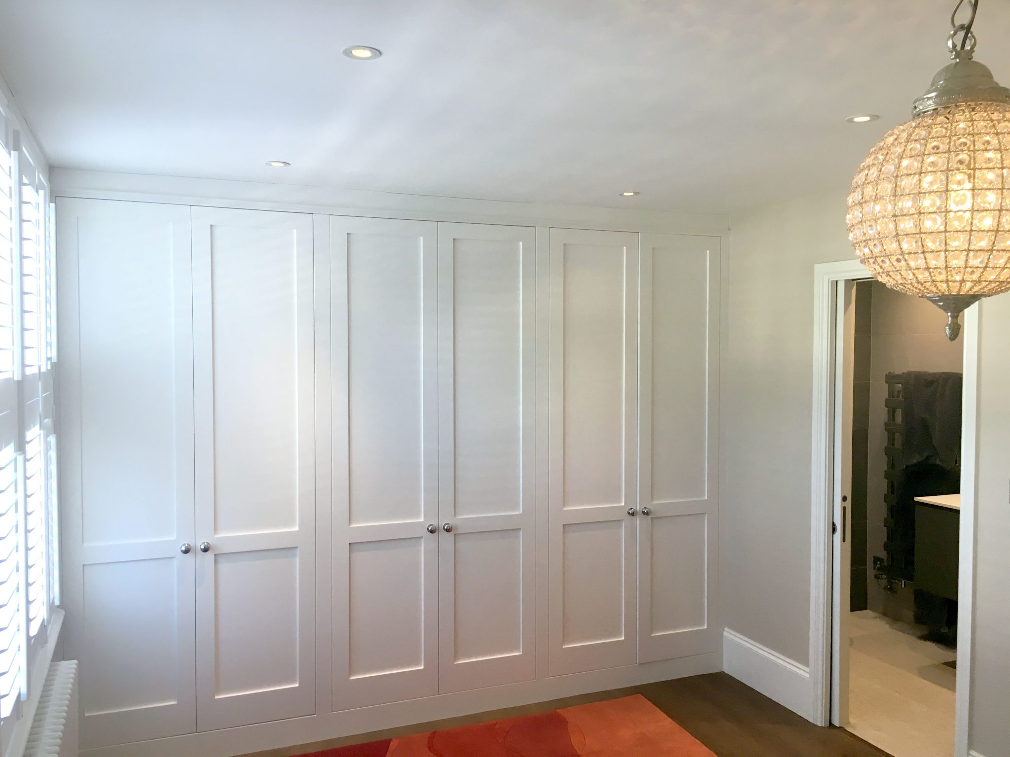 Bespoke Wall-to-wall White Wardrobes
