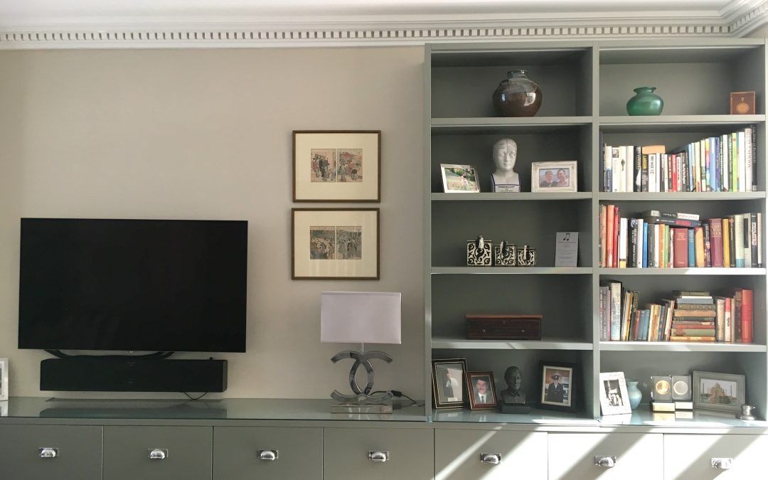 Project Battersea: Sleek Shelves & White Wardrobes